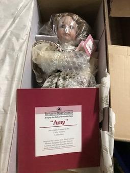 "Ashton Drake Porcelain Collectible Doll ""Miss Amy March"""